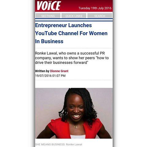 Ronke Lawal The Voice Newspaper