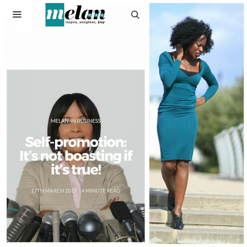 Self-promotion on Melan Magazine Ronke Lawal