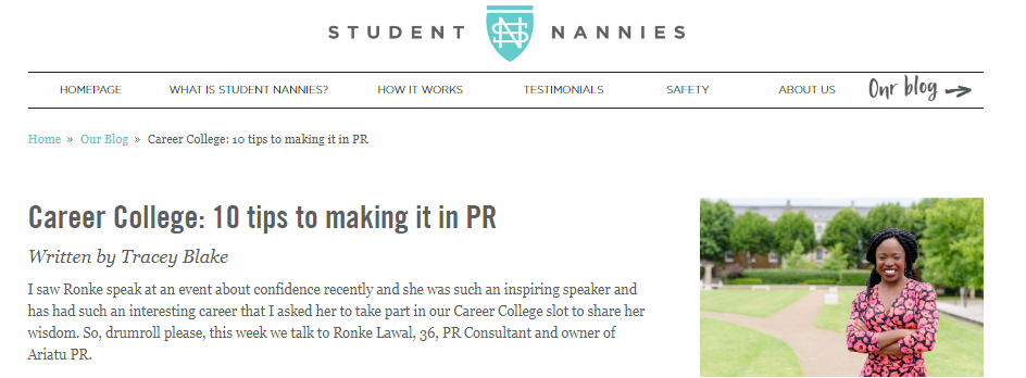 10 tips to making it in PR