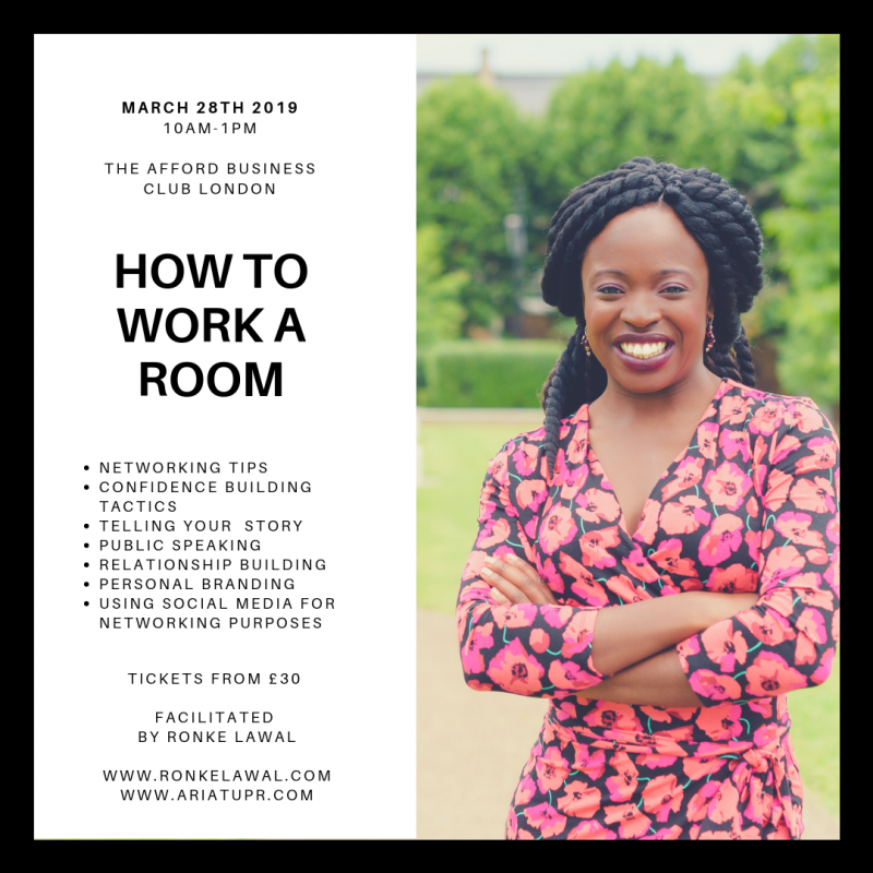 How To Work a Room Networking Workshop 2019