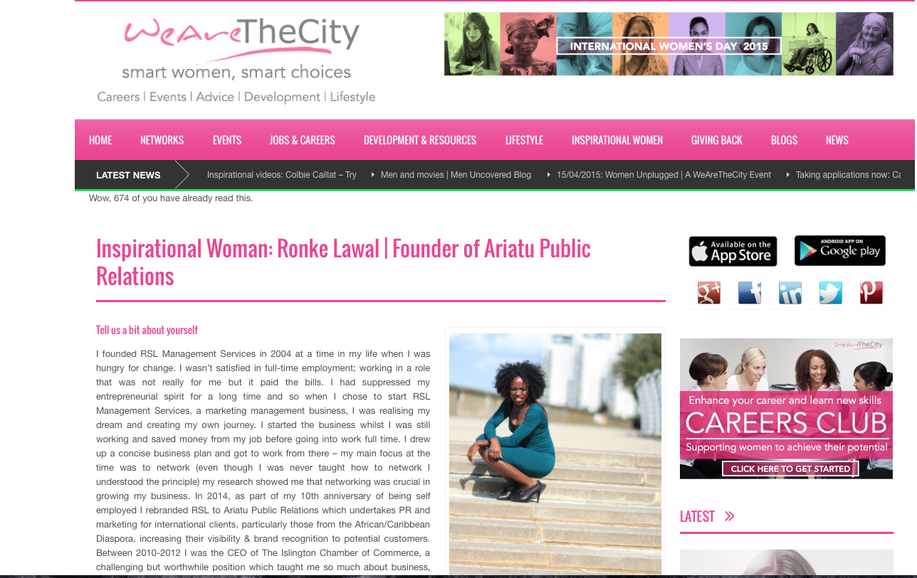We are the city ronke lawal